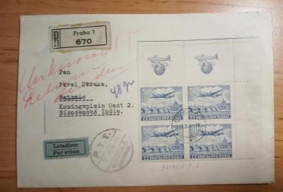 1948 R+Ex+Let-dopis adresovaný do Nizozemské Indie