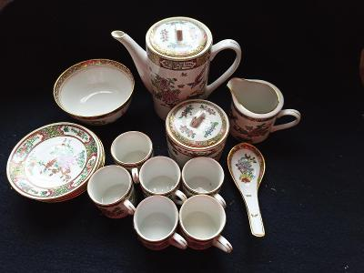 Čínský, čajový servis pro 6 osob/17 ks...(13727)