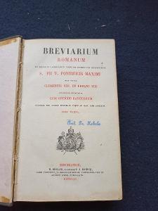 Kniha - Breviarium Romanum/Pars Verna 1861/535 str...(13729)