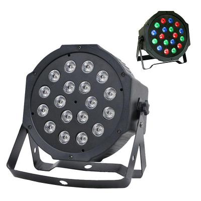 Led disco DJ světlo FLAT PAR LIGHT 18 W RGB lampa 0589