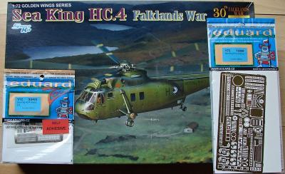 Sea King HC.4 Falklands War 1/72 Dragon + plechy Eduard