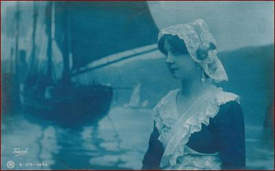 Žena * čepec, krajka, kroje, holandský motiv, atelier foto * M5003
