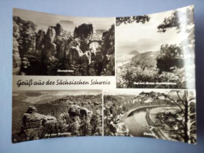 Pohlednice Sächsischen Schweiz, prošlá 1972
