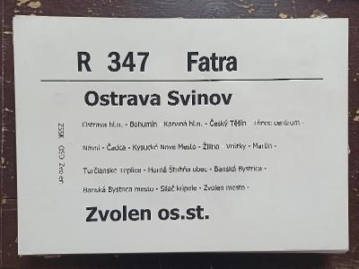 Směrová cedule ZSSK - R 347 FATRA