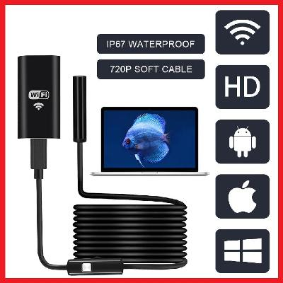 ENDOSKOP USB INSPEKČNÍ KAMERA 5 METRŮ 6xLED IP67 7mm APPLE ANDROID