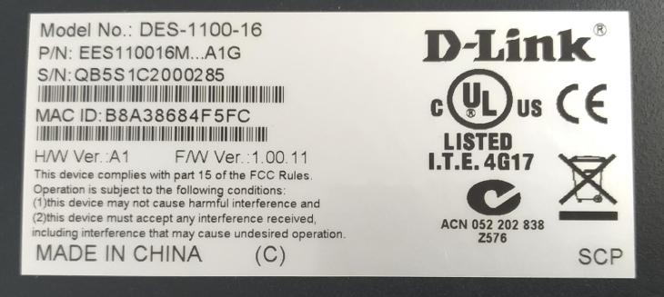 Switch D-Link DES-1100-16 16port 10/100 EasySmart - PC komponenty