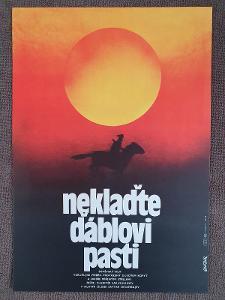 Filmový plakát A3 Neklaďte ďáblovi past - Weber, Jan