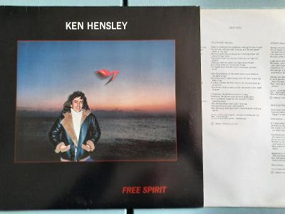Ken Hensley Free Spirit LP 1981 vinyl D 1.press jako nove Uriah Heep