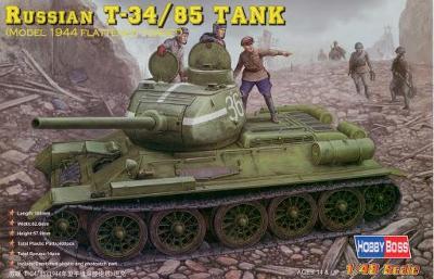Russian T-34/85 Tank 1944 Flattened Turret 1/48