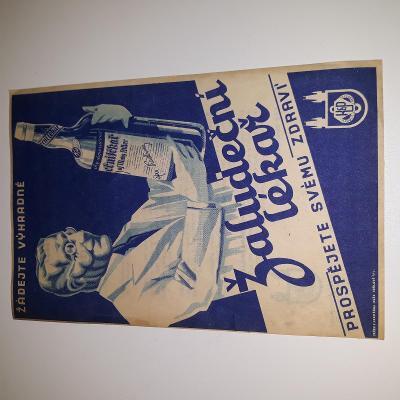 originál stará reklama žaludeční lékař
