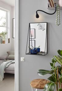 Nástěnné zrcadlo s policí 30x50 cm (38259333) A485