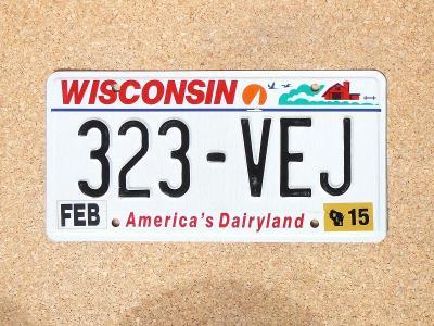 USA SPZ, Wisconsin originál...