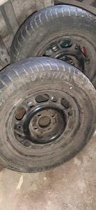 """Kola VW 14"""" - 4x100, pneu 195/60 R14 - 2 ks"""