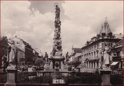 Košice * Leninova ulice, morový sloup, socha * Slovensko * V670