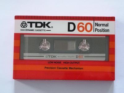 kazeta TDK D 60, typ I, 1982-84