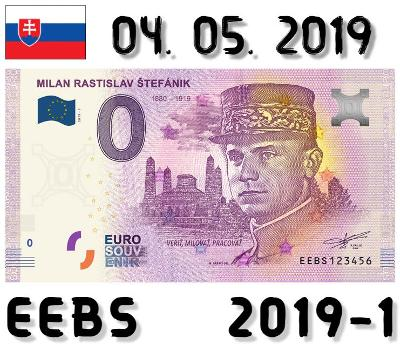 0 Euro Souvenir | MILAN RASTISLAV ŠTEFÁNIK - generál | EEBS | 2019