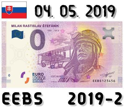 0 Euro Souvenir | MILAN RASTISLAV ŠTEFÁNIK - pilot | EEBS | 2019
