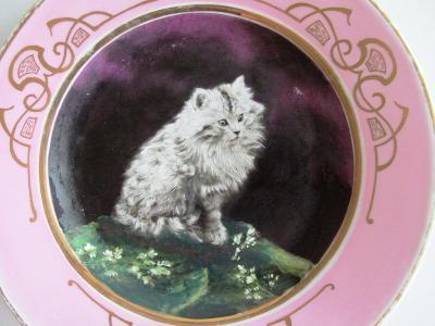 Starožitný porcelánový talíř. Ruční malba 26 cm