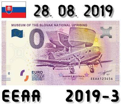 0 Euro Souvenir | MUSEUM OF THE SLOVAK NATIONAL UPRISING | EEAA | 2019