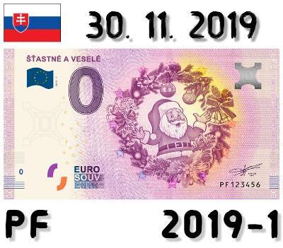 0 Euro Souvenir | ŠŤASTNÉ A VESELÉ | PF | 2019