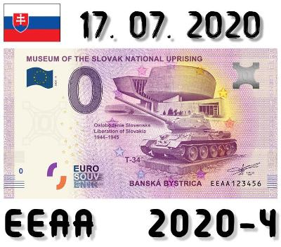 0 Euro Souvenir | MUSEUM OF THE SLOVAK NATIONAL UPRISING | EEAA | 2020