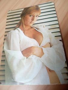 Kartičkové, kapesní kalendáříky - Erotika, Akty,.Dívka - staré roky !!