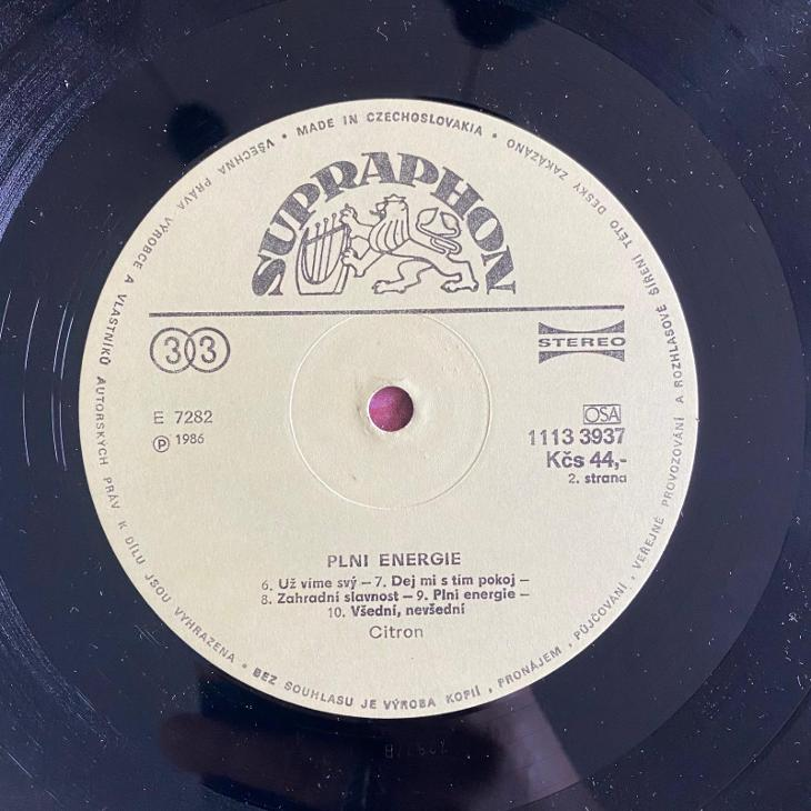 Citron – Plni Energie - LP vinyl - Hudba