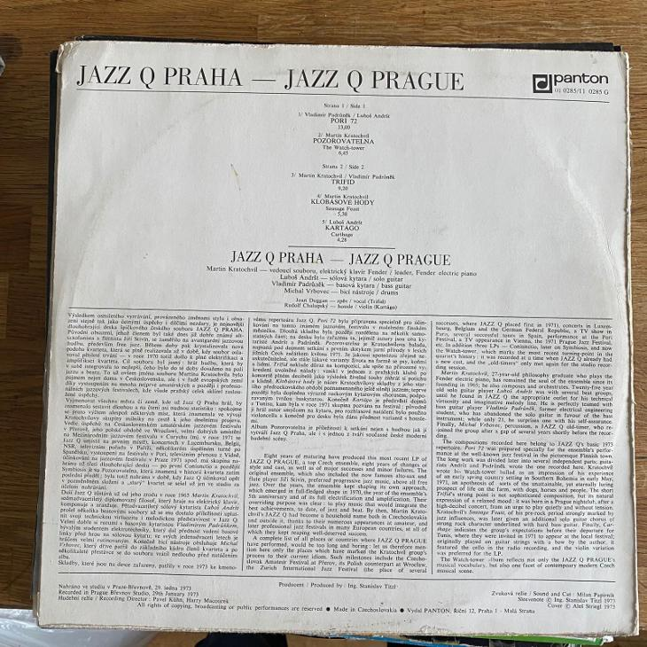 Jazz Q Praha* – Pozorovatelna (The Watch-Tower) - LP vinyl - Hudba