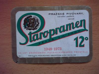 Pivní etiketa Praha - Smíchov H33