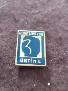 Odznak Rudá Hvězda Ústí nad Labem  - modrá varianta