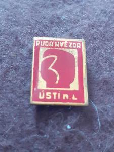 Odznak Rudá Hvězda Ústí nad Labem - červená varianta