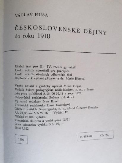 Československé dějiny do roku 1918  - Knihy