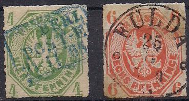 PREUSSEN ( Prusko ) Mi. 14 - 15, razítkovaná