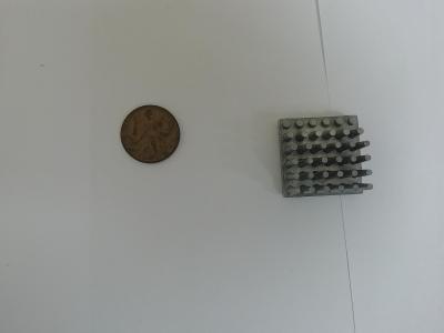 hliníkový chladič na hlavný čip