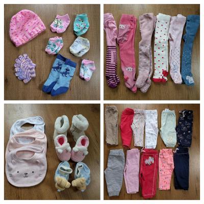oblečení holčička vel. 68-74 (64 kusů + dárek)