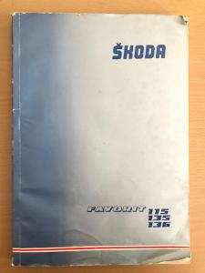 Dílenská přiručka ŠKODA Favorit 115s,115l,135l,135ls,136l,136ls - 1989