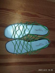 Letní zelené sandály  stélka 26 cm