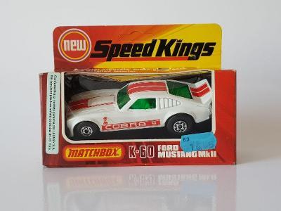 Matchbox Speed Kings K-60 Mustang White