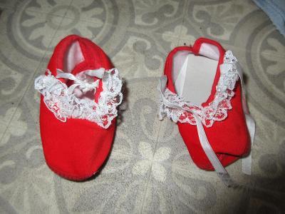 botičky-capáčky dětské červené