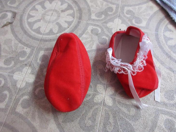 botičky-capáčky dětské červené - Dětská obuv