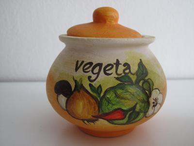 Ručně malovaná keramická dóza s víčkem
