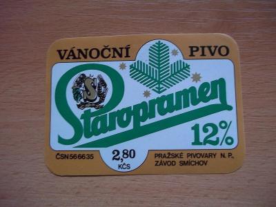 Pivní etiketa Praha - Smíchov H55