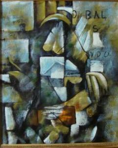 kubismus obraz olej na platne 50 x 60 cm