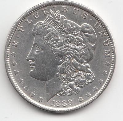 USA, Morgan Dollars 1889 Philadelphia, super stav TOP, od 1 Kč
