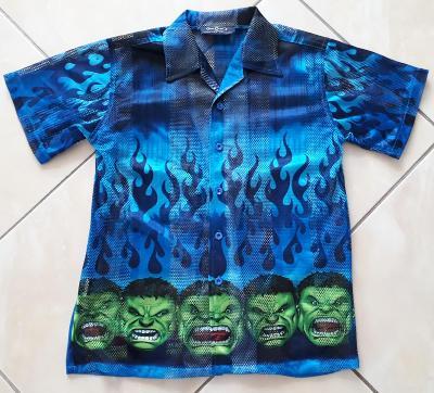 Chlapecká košile Hulk vel.140 (9 - 11 let)
