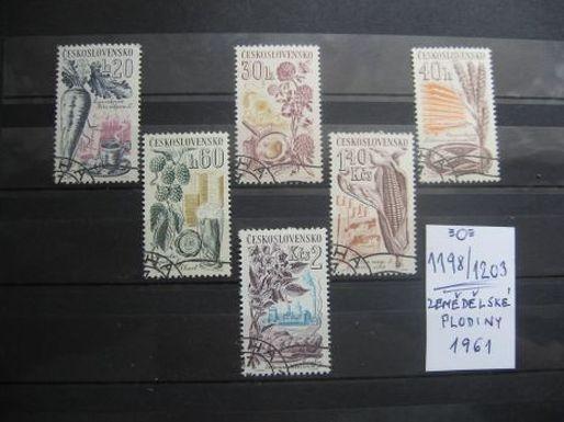 série 1198 / 1203 - Zemědělské plodiny 1961(6) - popis - H-24  - Filatelie