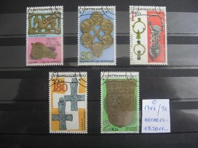 série 1786 / 1790 - Archeologické objevy 1969 (5) - popis - H-24