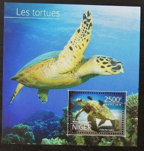 Niger 2014 Bl.381 10€ Želvy a vodní plazi Afriky, karety
