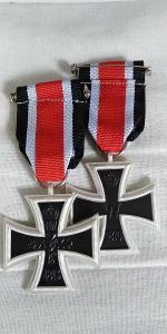 NĚMECKO ŘAD kříž 1870 Iron Cross 2 st. medaile replika
