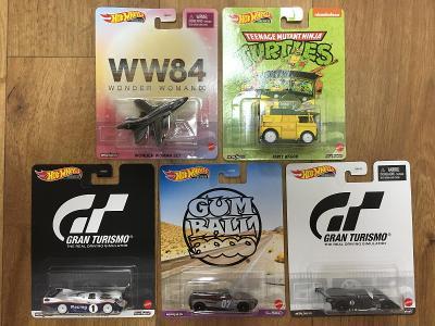 Sada premium Hot Wheels - Retro Entertainment - 5 modelů
